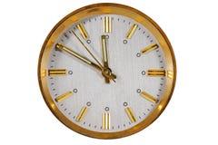 Cara de reloj aislada en el fondo blanco Imágenes de archivo libres de regalías