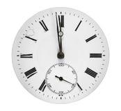 Cara de reloj antigua Imagenes de archivo