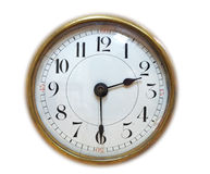 Cara de reloj antigua Fotos de archivo