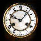 Cara de reloj antigua Imágenes de archivo libres de regalías
