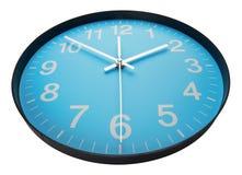 Cara de reloj azul Imagenes de archivo