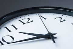 Cara de reloj blanca Foto de archivo libre de regalías