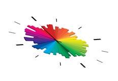 Cara de reloj colorida Fotos de archivo libres de regalías