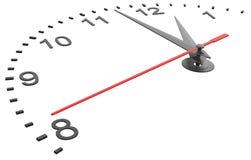 Cara de reloj con números Foto de archivo
