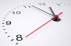 Cara de reloj con números Imagen de archivo libre de regalías