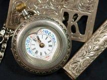 Cara de reloj de Antuque Fotografía de archivo libre de regalías
