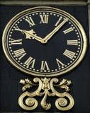 Cara de reloj de Guilded foto de archivo