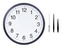 Cara de reloj en blanco
