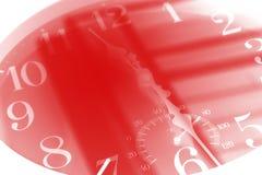 Cara de reloj en tono azul Mida el tiempo del concepto imagen de archivo libre de regalías