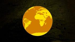 Cara de reloj mundial stock de ilustración