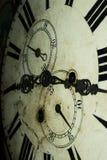 Cara de reloj pasada de moda foto de archivo