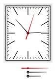 Cara de reloj rectangular Imágenes de archivo libres de regalías