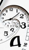 Cara de reloj torcida generada Digitaces. Imagenes de archivo