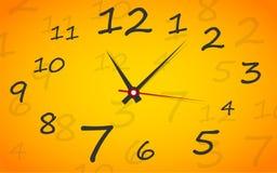 Cara de reloj. Vector. Ponga su tiempo. Imágenes de archivo libres de regalías
