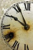 Cara de reloj vieja Imagen de archivo