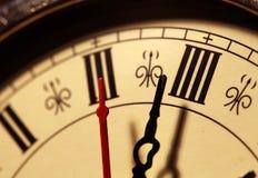 Cara de reloj vieja foto de archivo libre de regalías