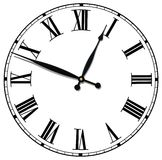 Cara de reloj antigua aislada Imagen de archivo