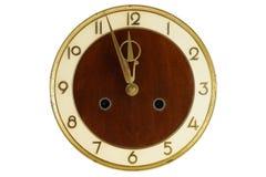 Cara de reloj vieja de la vendimia Imagen de archivo