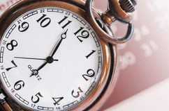 Cara de reloj y compuesto del calendario Foto de archivo libre de regalías