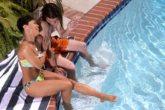 Cara de risa de la piscina Foto de archivo libre de regalías