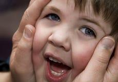 Cara de Sqeezed Imagenes de archivo