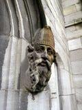 Cara de St Patrick en piedra fotografía de archivo