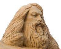 Cara de um homem feito da areia Imagens de Stock
