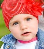 Cara de uma menina 2 anos de fim velho acima Imagens de Stock