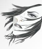 Cara de uma mulher Fotografia de Stock Royalty Free