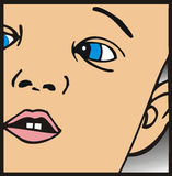 Cara de un bebé stock de ilustración