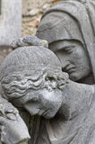 Cara de un hombre y de una mujer Imagen de archivo