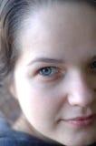 Cara de una chica joven sin un maquillaje Imagen de archivo