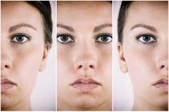 Cara de una hembra hermosa Fotos de archivo