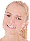 Cara de una muchacha escandinava atractiva Fotos de archivo