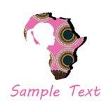 Cara de una mujer africana Fotos de archivo