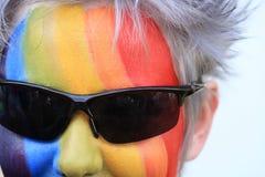 Cara del arco iris imagen de archivo libre de regalías