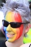 Cara del arco iris fotografía de archivo libre de regalías
