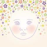 Cara del bebé libre illustration