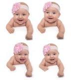Cara del bebé de la sonrisa Imágenes de archivo libres de regalías