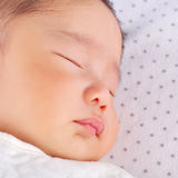 Cara del bebé durmiente Fotografía de archivo