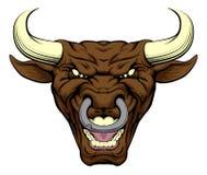 Cara del carácter de Bull Fotos de archivo