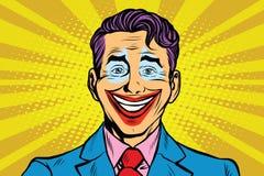 Cara del comodín de la sonrisa del payaso stock de ilustración