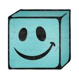 Cara del cubo de la sonrisa Imagenes de archivo