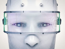 Cara del Cyborg o cara del robot ilustración del vector