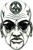 Cara del demonio del tatuaje Imagen de archivo libre de regalías