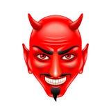 Cara del diablo aislada en el vector blanco Fotos de archivo libres de regalías