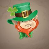 Cara del duende del día de St Patrick. Fotografía de archivo libre de regalías