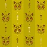 Cara del gato con el esqueleto del modelo 03 de los pescados ilustración del vector