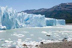 Cara del glaciar merino de Perito, la Argentina Fotografía de archivo libre de regalías