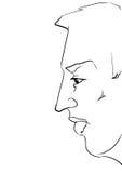Cara del hombre Foto de archivo